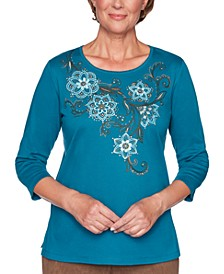 Petite Walnut Grove Embellished Top