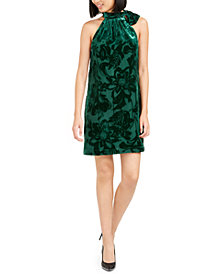 Trina Trina Turk Wish Velvet Burnout Shift Dress
