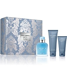 DOLCE&GABBANA Men's 3-Pc. Light Blue Eau Intense Pour Homme Gift Set