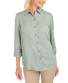 Woven Solid Tencel Shirt, Created For Macy's
