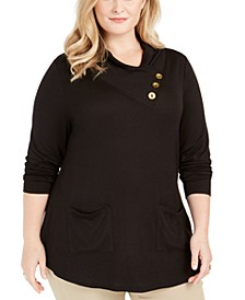 Plus Size Cowlneck Tunic Sweater