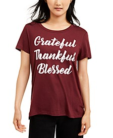 Juniors' Grateful Thankful Blessed T-Shirt