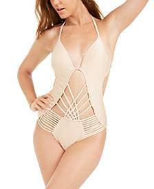 Macrame Push-Up One-Piece Swimsuit