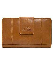 Mancini Casablanca Collection RFID Secure Ladies Medium Clutch Wallet
