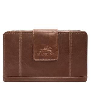 Casablanca Collection Rfid Secure Ladies Medium Clutch Wallet