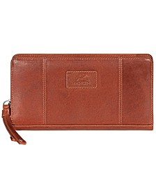 Casablanca Collection RFID Secure Ladies Zippered Clutch Wallet