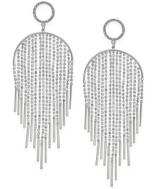 Silver-Tone Pavé Crystal Tassel Mobile Drop Earrings, Created For Macy's