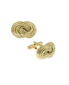 Jewelry 14K Gold-Plated Infinity Knot Cufflinks