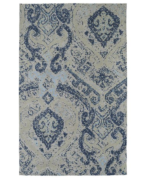 Kaleen Cozy Toes CTC04-17 Blue 2' x 3' Area Rug