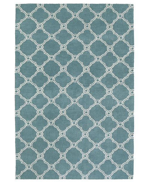 Kaleen Cozy Toes CTC10-78 Turquoise 2' x 3' Area Rug