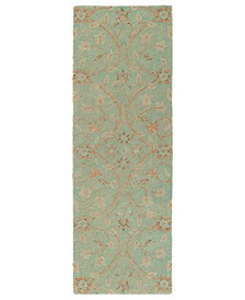 Weathered WTR04-78 Turquoise 2' x 6' Runner Rug