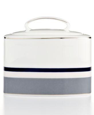 Mercer Drive Platinum Sugar Bowl with Lid