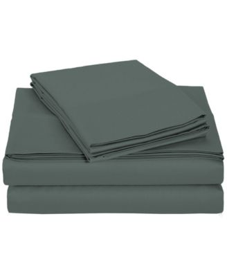 University 4 Piece Gray Solid Twin Xl Sheet Set