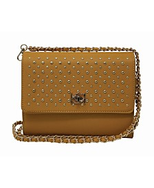 Bebe Christina Stud Crossbody