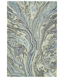 """Marble MBL04-17 Blue 5' x 7'9"""" Area Rug"""
