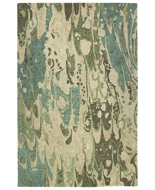 "Kaleen Marble MBL05-50 Green 5' x 7'9"" Area Rug"