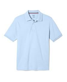 Big Boys Short Sleeve Interlock Knit Polo Shirt