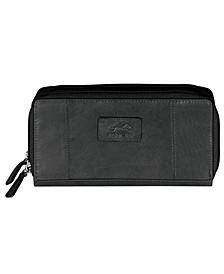 Casablanca Collection RFID Secure Double Zipper Wallet