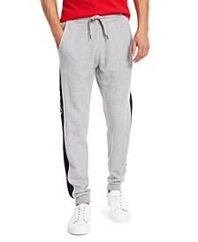 Men's Regular-Fit Contrast Logo Panel Joggers