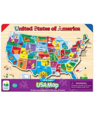 The Learning Journey Lift and Learn Usa Map Puzzle