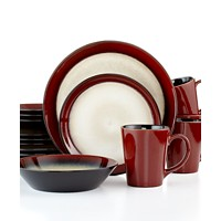 Deals on Pfaltzgraff Everyday Aria Red 16-Pc. Set, Service for 4