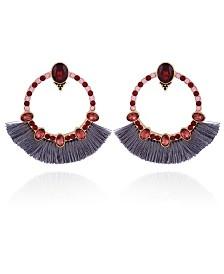 Nanette Nanette Lepore Beautifully Berry Front Facing Hoop Earrig