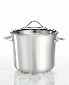 Contemporary Stainless Steel 12 Qt. Covered Stockpot