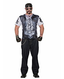 BuySeason Men's Sublimation Biker Guy Shirt Costume