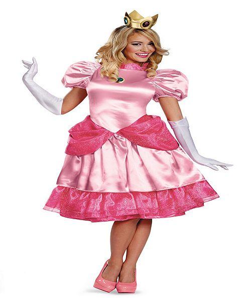 Buy Seasons Women S Super Mario Brothers Deluxe Princess Peach Costume