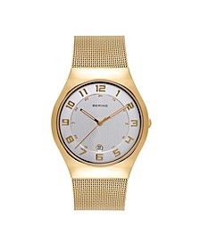 Women's Classic Gold-Tone Stainless Steel Mesh Bracelet Watch 37mm