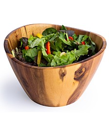 Casa Bellante Acacia Wood Salad Bowl