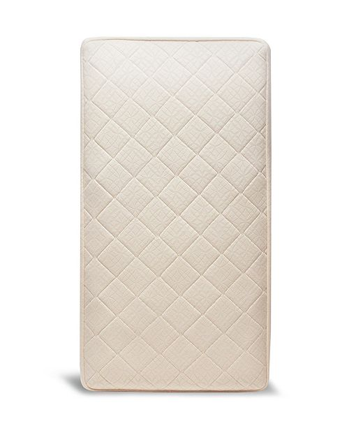 Naturepedic Organic 2-Stage Baby Crib Mattress and Toddler Bed with Extra Thick Breathable Pad