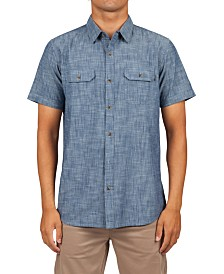 Rip Curl Men's Rudy Standard-Fit Chambray Shirt