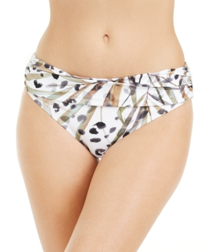 Kenneth Cole Jungle Fever Printed Bikini Bottoms Women's Swimsuit