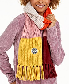 Colorblock Recycled Scarf with Fringe