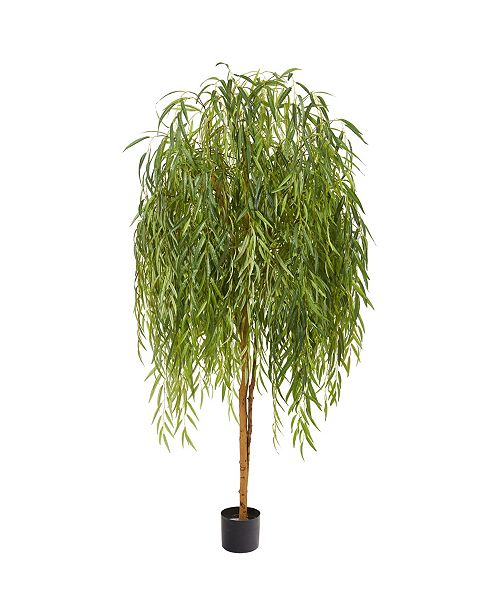 Nearly Natural 7' Willow Artificial Tree