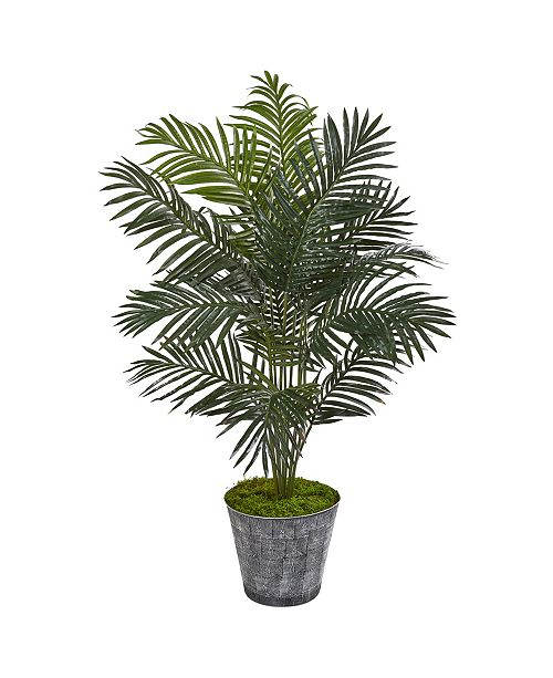 """Nearly Natural 58"""" Paradise Palm Artificial Tree in Decorative Planter"""