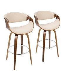 "Curvini 30"" Bar Stool, Set of 2"