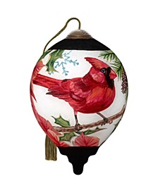 The NeQwa Art Festive Friend hand-painted blown glass Christmas ornament