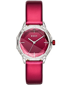 Women's Cityspire Red Patent Leather Strap Watch 34mm