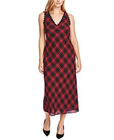 Tartan Plaid Maxi Dress