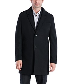 Men's Perry Classic-Fit Textured Twill Top Coat