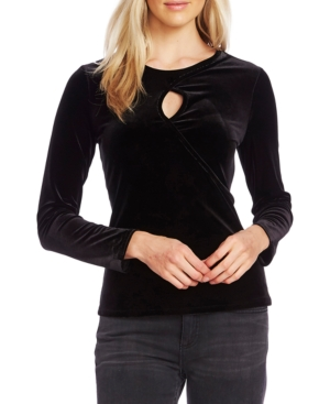 Vince Camuto Tops CROSSOVER VELOUR TOP