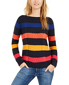 Striped Cable Knit Sweater, Created for Macy's