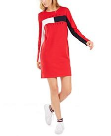 Colorblocked Logo Dress
