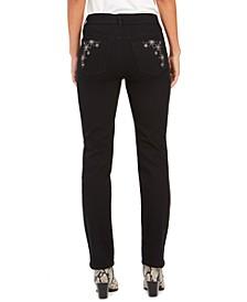 Straight-Leg Bling Pocket Jeans, Created For Macy's