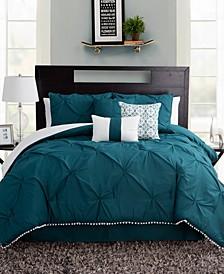 Pom-Pom Twin XL 5 Piece Comforter Set