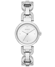 Women's Eastside Stainless Steel Pavé Chain Bracelet Watch 30mm