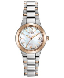 Eco-Drive Women's Chandler Two-Tone Stainless Steel Bracelet Watch 26mm