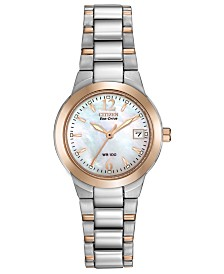 Citizen Eco-Drive Women's Chandler Two-Tone Stainless Steel Bracelet Watch 26mm